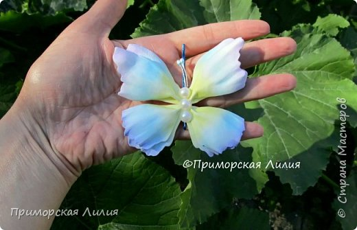 Бабочка из фоамирана. Украшение на лето))) фото 1