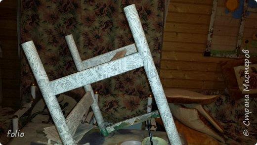 Друзьям обещала привести в порядок стул. В прошлом году занималась подобной работой.  А начиналось все вот так: фото 9
