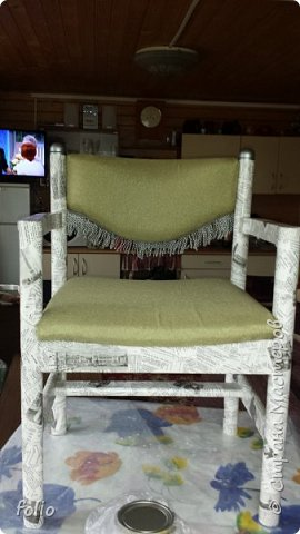 Друзьям обещала привести в порядок стул. В прошлом году занималась подобной работой.  А начиналось все вот так: фото 15