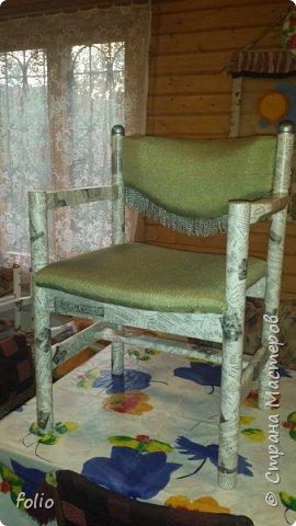 Друзьям обещала привести в порядок стул. В прошлом году занималась подобной работой.  А начиналось все вот так: фото 1