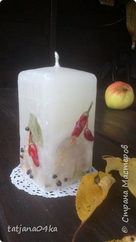 декор свечей фото 8