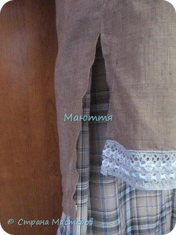 """Не могу удержаться, чтоб не сшить доче новый наряд в стиле бохо. Мне кажется, что она создана именно для этого стиля. Никакие джинсы, шорты и проч. нам не подходят так, как эти удлиненные платья, сарафаны и """"странные"""" жакетики. Комплект из платья с длинным рукавом и жакета. фото 15"""