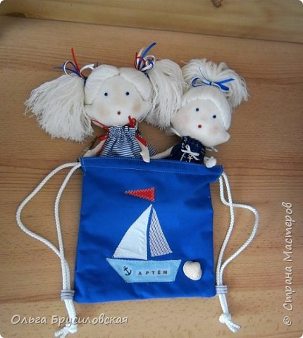Привет всем в СМ! Наступило лето и морской стиль, конечно, в тему... Вот они мои морячки. Куколки-малышки, 20см, такие же, как здесь  https://stranamasterov.ru/node/1026803 и здесь https://stranamasterov.ru/node/1020272 фото 7