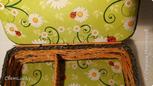 Вот такую шкатулочку сделала для своей бабушки под самое сокровенное (лекарство) Ситцевый узор увидела в интернете, схему рисовала сама. Вот что получилось, Рыхловато. но как-то не дружится ситцевое с моими руками)... фото 3