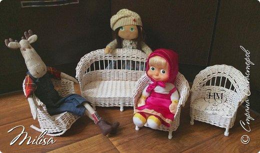 Здраствуйте мастера и гости замечательной страны мастеров.Показываю кукольную мебель из бумажной лозы .Вот такая она получилась. фото 2