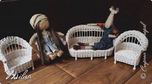 Здраствуйте мастера и гости замечательной страны мастеров.Показываю кукольную мебель из бумажной лозы .Вот такая она получилась. фото 3