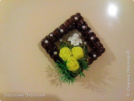 Магниты на холодильник из кофейных зерен фото 2
