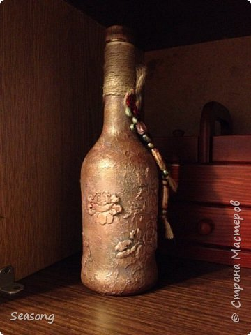 Бутылка текстурные розы фото 1