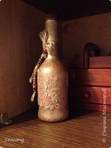 Бутылка текстурные розы фото 2