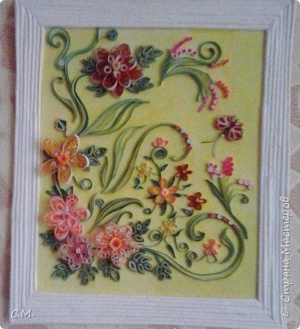 Цветы являются украшением нашей жизни, вызывают чувства -нежности ,восхищения, радости  в наших душах. Эти цветочные композиции (картины) -это маленький оазис весны и лета в каждом доме, и частичка тепла и позитива в наших сердцах.  Все работы выполнены в технике квиллинг.  фото 4