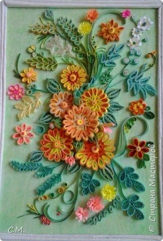 Цветы являются украшением нашей жизни, вызывают чувства -нежности ,восхищения, радости  в наших душах. Эти цветочные композиции (картины) -это маленький оазис весны и лета в каждом доме, и частичка тепла и позитива в наших сердцах.  Все работы выполнены в технике квиллинг.  фото 2