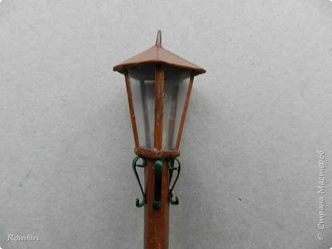 Добрый день жители Страны Мастеров.Представляю вам часть работы дома-тыквы,уличный фонарь и дерево,скамейку вы уже видели.Это небольшой скверик перед домом-тыквой. фото 25