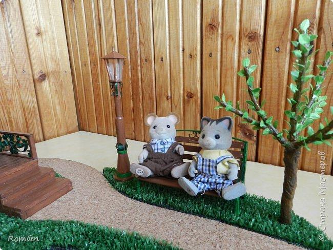 Добрый день жители Страны Мастеров.Представляю вам часть работы дома-тыквы,уличный фонарь и дерево,скамейку вы уже видели.Это небольшой скверик перед домом-тыквой. фото 45