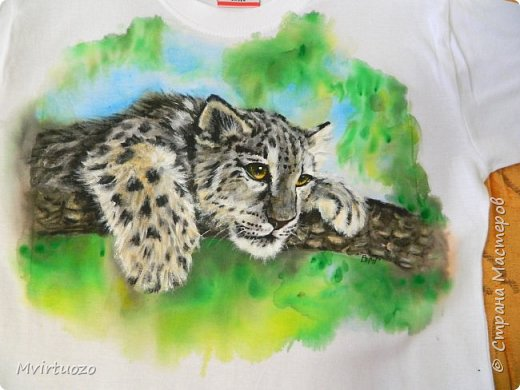 Представляю вашему вниманию очередную футболку. Малыш ягуара (в подарок подростку) фото 5