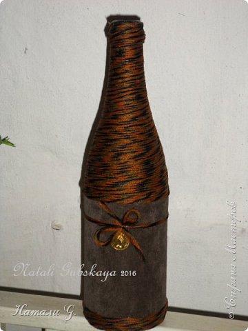 Стильная бутылка с денежкой фото 1