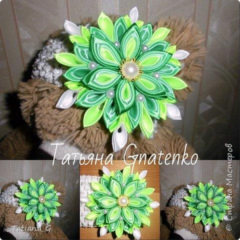 Повязочка с ярким цветком. фото 3