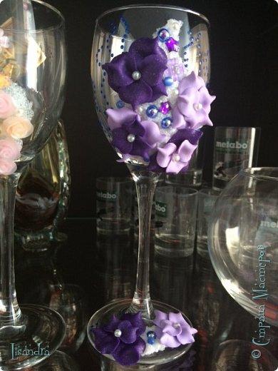 Самый первый бокал и первые цветочки. фото 3