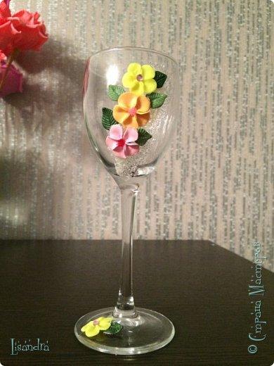 Самый первый бокал и первые цветочки. фото 1