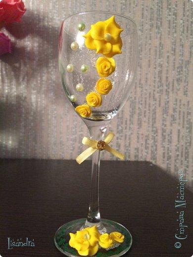 Самый первый бокал и первые цветочки. фото 5