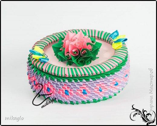 3d origami flower box фото 2