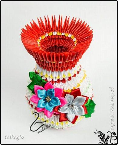 Flower vase origami 3d фото 2