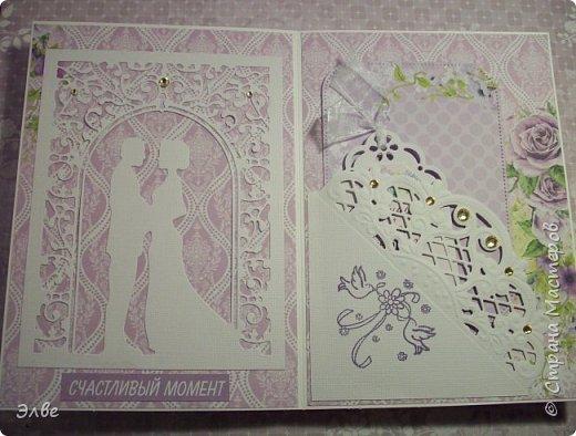 Сегодня хочу показать, как я потрудилась в первые дни лета. Одна свадебная открытка и три на дни рождения.  Бумага из свадебного набора от Скрапберис. фото 2