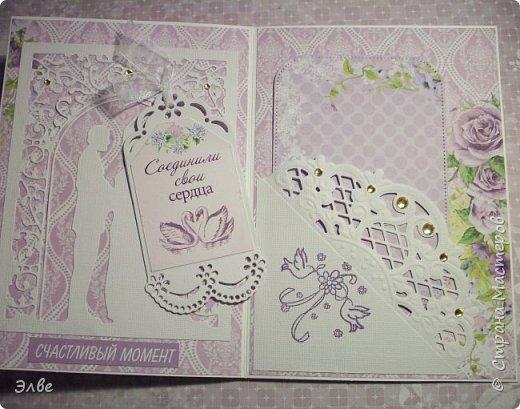Сегодня хочу показать, как я потрудилась в первые дни лета. Одна свадебная открытка и три на дни рождения.  Бумага из свадебного набора от Скрапберис. фото 3