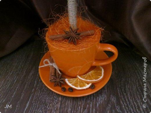 Здравствуйте! Опять меня попросили придумать подарок на юбилей для учителя английского языка и по-совместительству любительницы кофе. У меня сразу возникла идея с кофейным деревом. Это мое первое творение в этой технике. фото 2