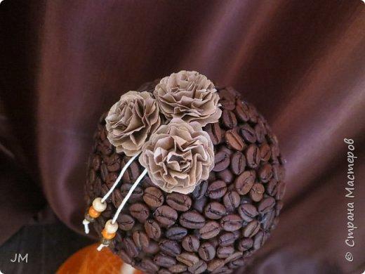 Здравствуйте! Опять меня попросили придумать подарок на юбилей для учителя английского языка и по-совместительству любительницы кофе. У меня сразу возникла идея с кофейным деревом. Это мое первое творение в этой технике. фото 3