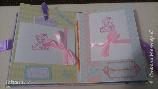 Добрый день! Сегодня хочу показать вам детские наборчики! Писать не буду, просто посмотрите)  Папочка для первых документов, альбомчик и сокровищница)   фото 8