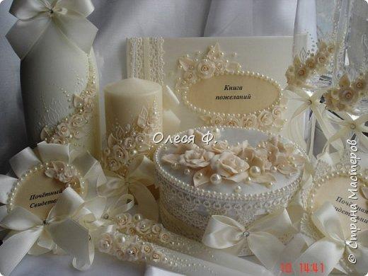 """Добрый день!!!   Свадебный комплект в нежном и благородном цвете  """"Ivory"""". Очень люблю этот цвет. Всегда радуют подобные заказы.  фото 1"""