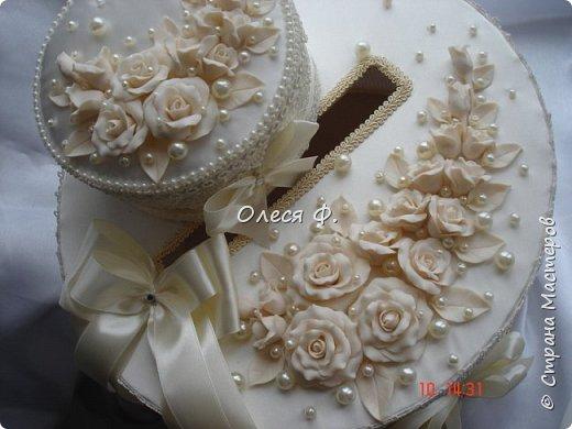 """Добрый день!!!   Свадебный комплект в нежном и благородном цвете  """"Ivory"""". Очень люблю этот цвет. Всегда радуют подобные заказы.  фото 7"""
