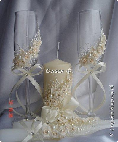 """Добрый день!!!   Свадебный комплект в нежном и благородном цвете  """"Ivory"""". Очень люблю этот цвет. Всегда радуют подобные заказы.  фото 8"""