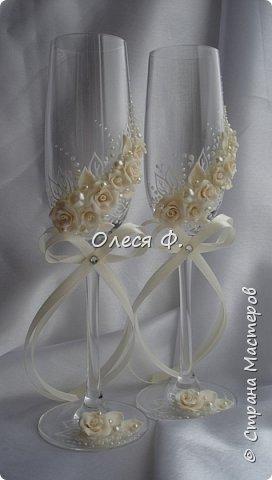 """Добрый день!!!   Свадебный комплект в нежном и благородном цвете  """"Ivory"""". Очень люблю этот цвет. Всегда радуют подобные заказы.  фото 9"""