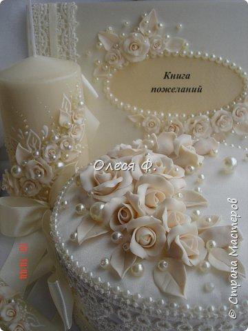 """Добрый день!!!   Свадебный комплект в нежном и благородном цвете  """"Ivory"""". Очень люблю этот цвет. Всегда радуют подобные заказы.  фото 12"""