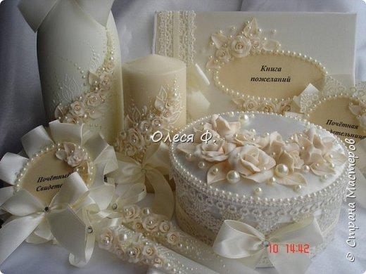 """Добрый день!!!   Свадебный комплект в нежном и благородном цвете  """"Ivory"""". Очень люблю этот цвет. Всегда радуют подобные заказы.  фото 13"""
