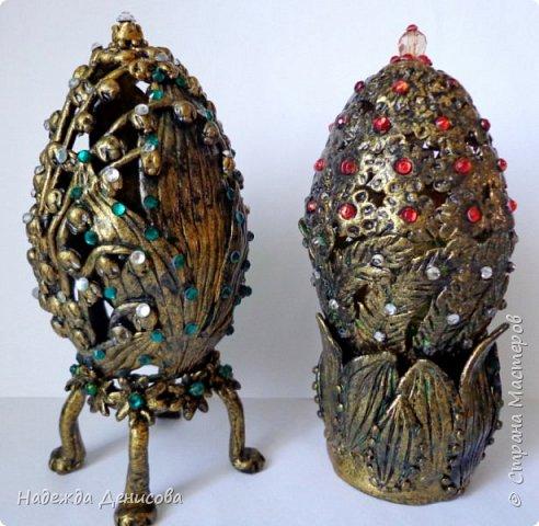 Дорогие жители чудесной Страны. Было у меня два пасхальных яйца, вылепленных из цветной пластики. И не нравились они мне. Решила переделать. фото 5