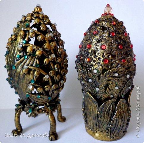 Дорогие жители чудесной Страны. Было у меня два пасхальных яйца, вылепленных из цветной пластики. И не нравились они мне. Решила переделать. фото 1