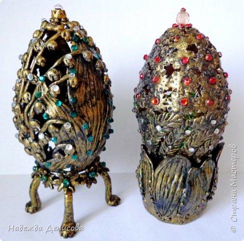 Дорогие жители чудесной Страны. Было у меня два пасхальных яйца, вылепленных из цветной пластики. И не нравились они мне. Решила переделать. фото 8