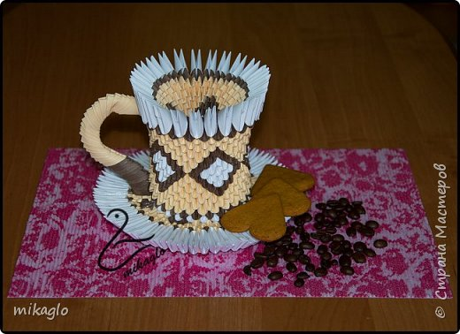 3d origami coffee cup фото 1