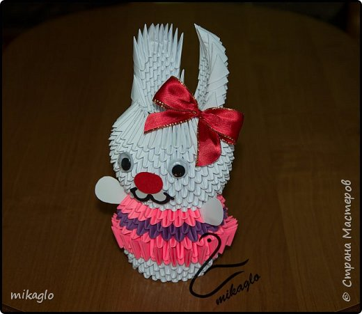 3d origami bunny girl фото 2