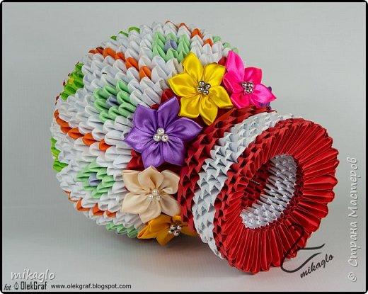 3d origami vase фото 2