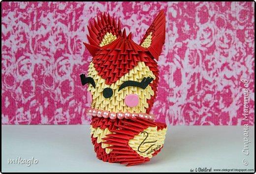 Origami 3d lady fox фото 1
