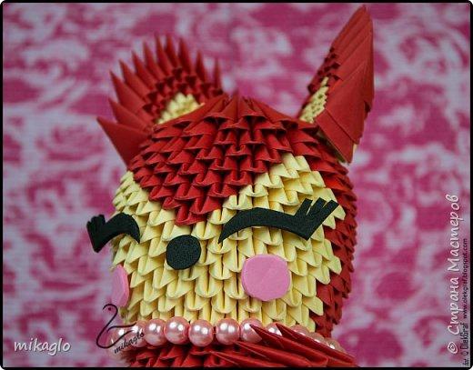 Origami 3d lady fox фото 2