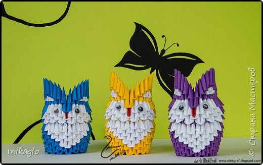 Origami 3d little owls фото 1