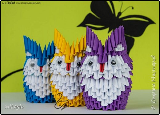 Origami 3d little owls фото 2