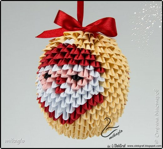 3d origami christmas bauble фото 2