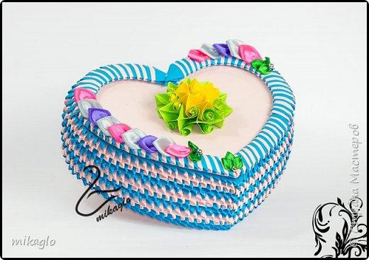 Origami 3d heart box фото 2