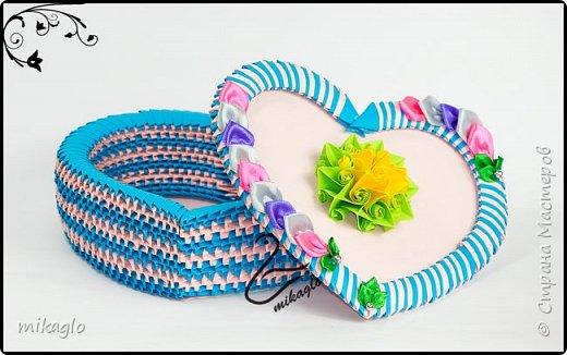 Origami 3d heart box фото 1