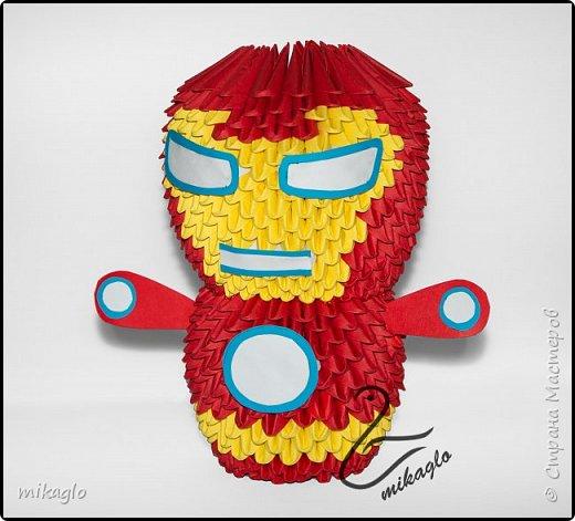 3d origami Avengers: Spiderman, Thor, Ironman, Hulk, Capitan America фото 4